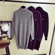 Fashion new bright diamond pullovers long sweater women