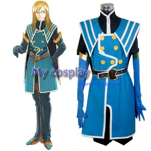Tales of the Abyss Jade Curtiss Cosplay Costume For Women's Cosplay Party Clothes  Halloween Costumes -- Freeshipping