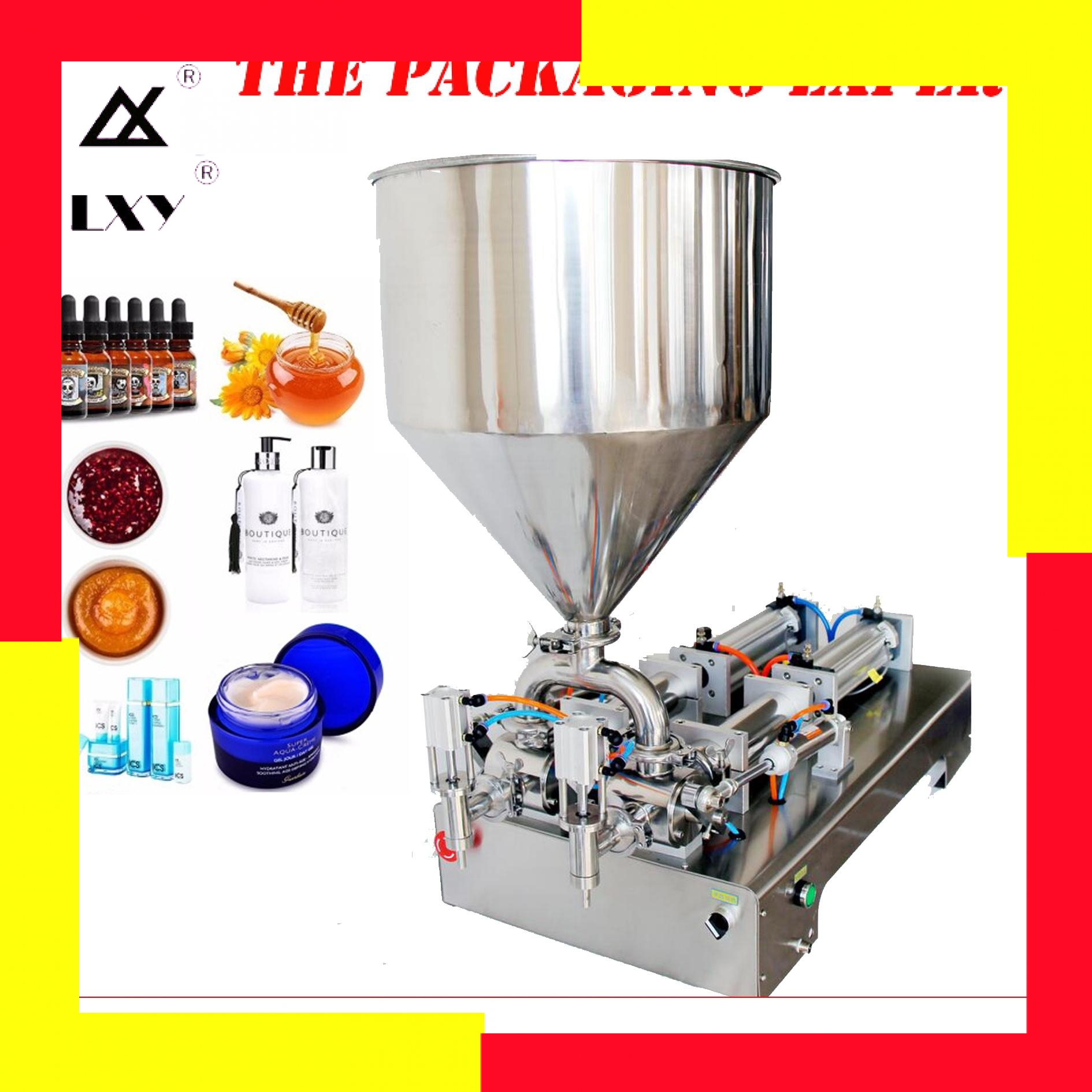 Cream Filling Machine Double Heads Pneumatic Piston Filler Shampoo Lotion Yoghourt Honey Juice Sauce Jam Nial Polish Fill