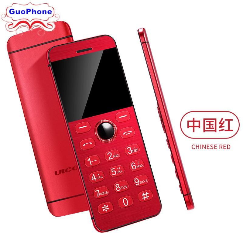 ULCOOL V16 Phone Super Mini Ultrathin Card Metal Body Bluetooth 2.0 Dialer MP3 Dual SIM Card Mini Phone 1.54Inch Phone