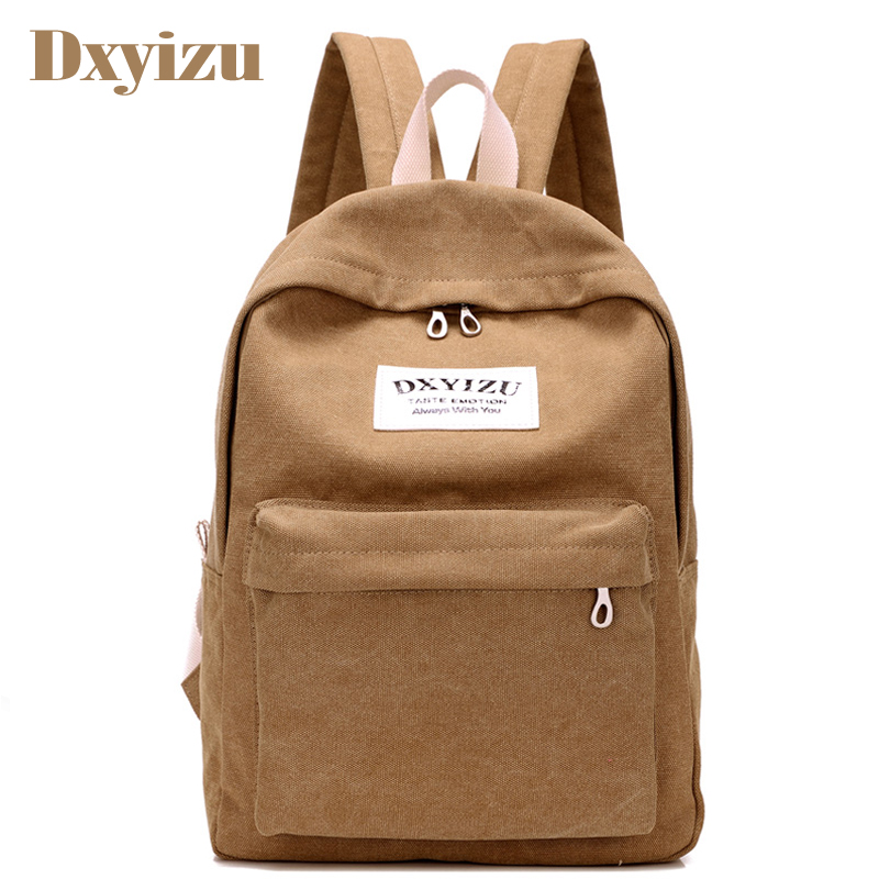 Fashion Women Canvas Backpacks Large School Bags For Teenager Boys Girls Travel Laptop Canvas Backbag Mochila Rucksack