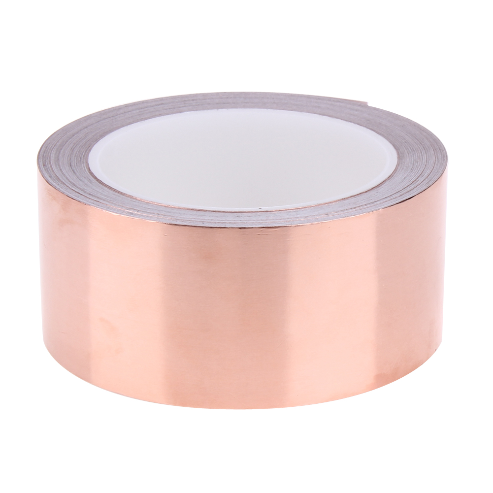 1 Roll Shielding Conductive Copper Foil Tape 20 Meters 5 cm Single Conductive Adhesive Tape Heat Insulation