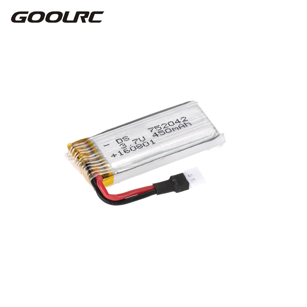 GoolRC Electric RC Battery Lipo 3.7V 450mAh Lipo Battery for GoolRC T5 T5C T5W T5G RC Quadcopter Drones Parts  Accessories zipstitch price in india
