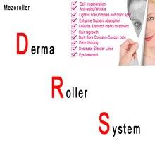 จัดส่งฟรี Mezoroller Micro สิวรอยแผลเป็นกระ Meso massager skin care anti   aging wrinkle removal นวดหน้า rollerDRS