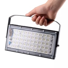 Ultra-thin AC 220V 50 LED Flood Light 50W Reflective Waterproof IP65 Spotlight Outdoor Landscape Lighting Cool White