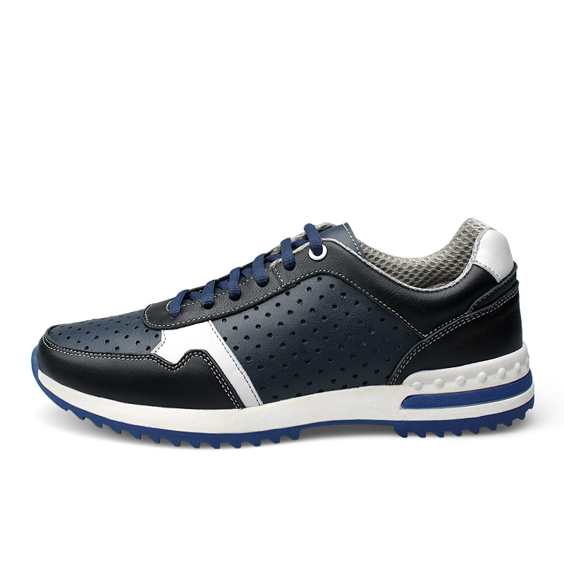 Breathable Running shoes for men sneaksers Genuine Leather outdoor walking shoes male sport sneakers zapatos hombre plus size 45