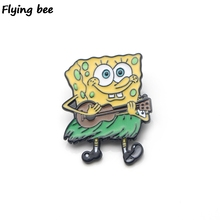 Flyingbee Cartoon Cute Badge For Clothes Bags Backpack badge Personality Shirt Lapel Pins X0197