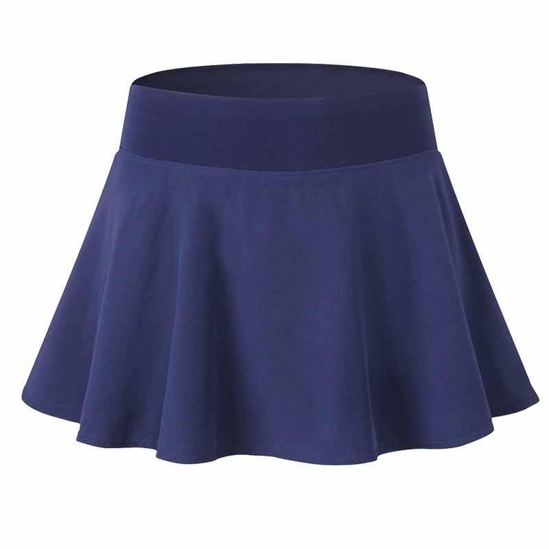 Kobiety elastyczna tenis Skorts stałe szybkie suszenie sportowe spódnice Lady profesjonalna siłownia nosić odzież sportowa tenis spodenki treningowe