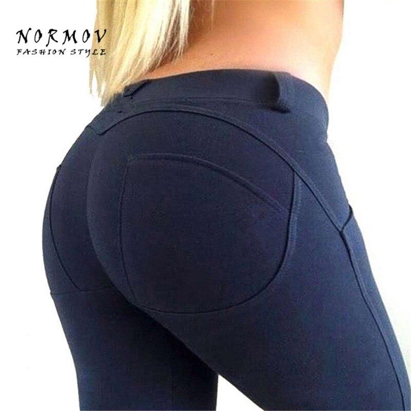NORMOV 4 Color Womens Push Up Hip Leggings Fashion High Waist Big Ass Leggings Women Ela ...