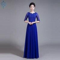 Ameision Bride Chiffon Lace Rrd Blue Long Evening Dresses Chorus Costume Bohemia Wedding Party Dress Prom Gown wholesale women