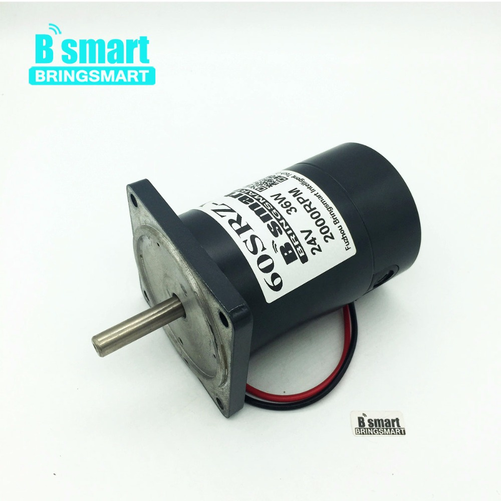 цена Bringsmart 60SRZ-Y Mini Motor 12V Permanent Magnet Motor DC High Speed 24V 2000rpm 4000rpm 36W Reversible for Marshmallow Motor