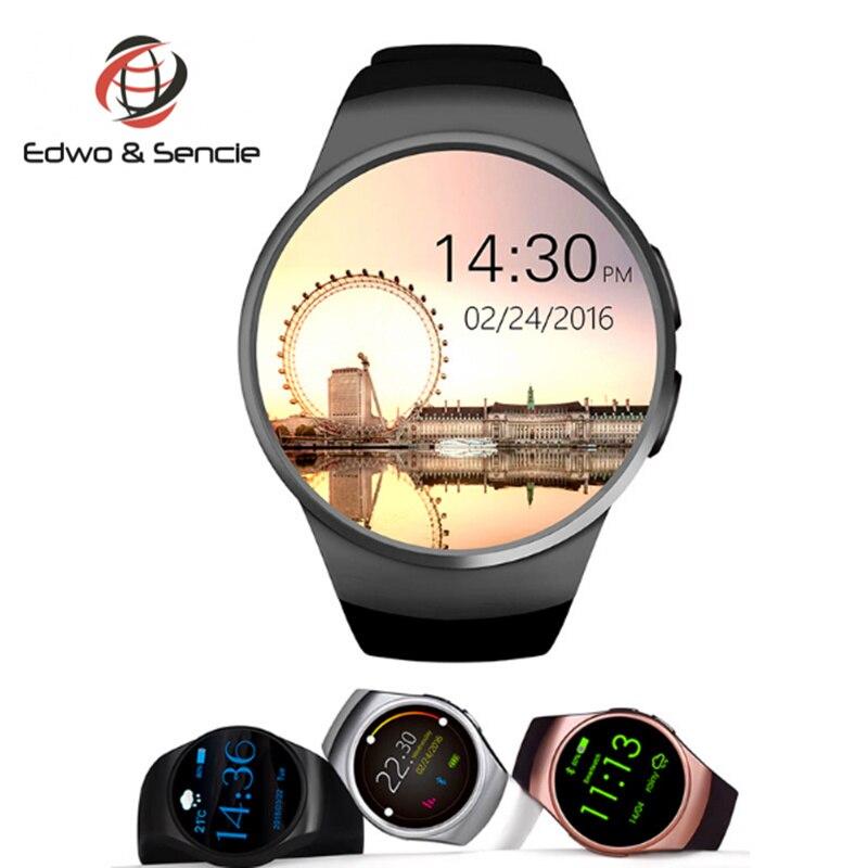Hot Sale KW18 font b Smart b font Watch Clock Bluetooth 4 0 Heart Rate Monitor