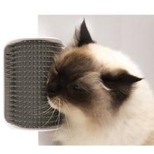 Cat Grooming Tool Szőrtelenítés Ecset Fésűs kutyáknak Macskák Hajszárítás Trimming eszköz katnippal Fali sarok Masszázs Comb