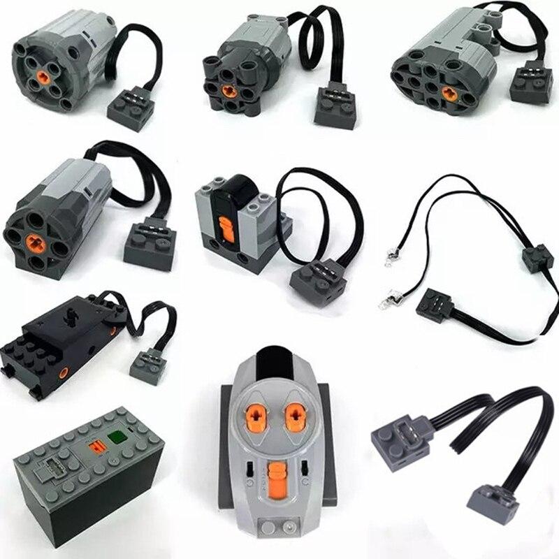 Technic parts compatible for legoeds multi power functions font b tool b font servo blocks train