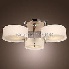 Высокое качество светодиодный E27 Акриловые Потолочные светильники Современная гостиная лампа 3 лампы 85-265 в