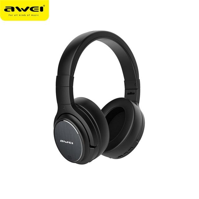 Original AWEI A950BL หูฟังบลูทูธ ANC ลดเสียงรบกวนไร้สาย bluetooth หูฟังหูฟังกับไมโครโฟนแฮนด์ฟรี