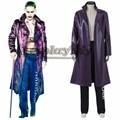 Comando Suicida Comando suicida Cosplay Batman Joker Cosplay Traje Chaqueta y Pantalones de Los Hombres Adultos de Halloween Disfraces de Carnaval