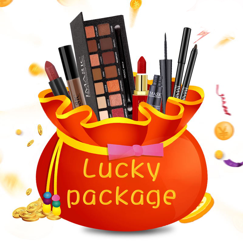IMAGIC Lucky Bag For Sale Top Quality Products For Lips Eyeshadow Palette Face Makeup Lips Face Cosmetic Gift Set Birthday Gift