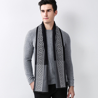 2017 Young People Cashmere Character Scarf Men Boys Autumn Winter Warm 180cm Long Scarves Stylish Pashmina Muffler Neckerchief