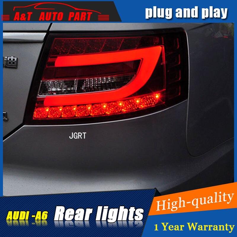 Стайлинга автомобилей Аксессуары для AU-ди-А6 задние фары 2005-2008 светодиодный задний фонарь на А6 задние лампы ДРЛ+Тормозная+Парк+сигнала Сид