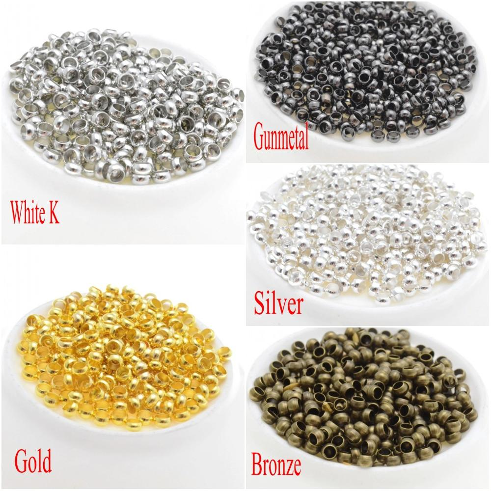 MIAOCHI Jewelry Findings Spacer-Beads Diy-Stopper Silver/bronze For 2mm-4mm