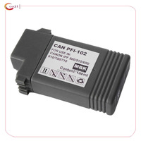 1Matte Black Compatible Ink Cartridge PFI 102 Pfi 102 For Canon IPF500 510 IPF700 710 720