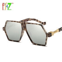 F.J4Z Vintage Fashion Men's Sunglasses Luxury Designer Exclusive Irragular Lens Stylish Women Eye Shades UV400 Oculos de sol