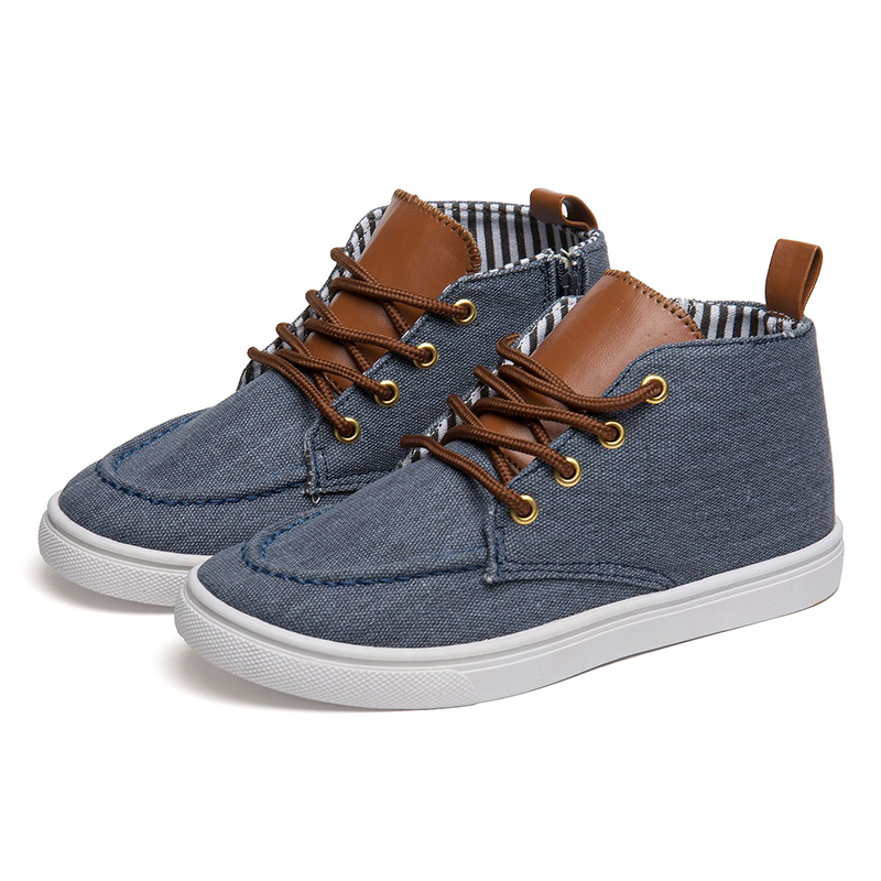 Фото - QWEST Spring& Summer Anti-Slippery Lace-Up Leather TPR Breathable High Quality Size 31-37 kids shoes for boy 71K-RS-0164 men large size breathable anti skid loafers cloth shoes