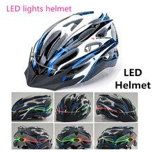Extreme sport bicycle helmet Ultralight and Integrally-molded Professional bike/cycling helmet Dual use Road or LED MTB Helmet