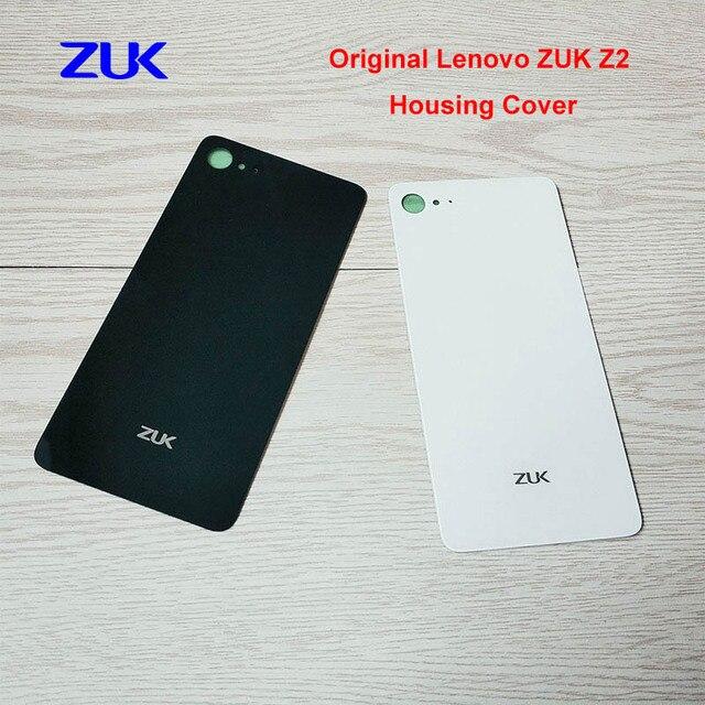 Original Para Lenovo ZUK Z2 Tampa Traseira Da Bateria Caso Porta Traseira de Vidro Tampa da caixa para Lenovo Z2 ZUK Substituição + Vinheta Adhensive