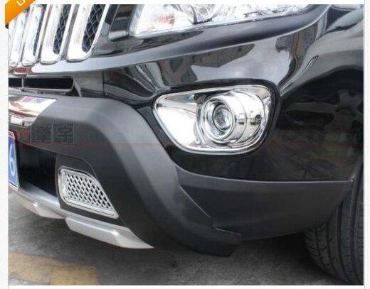Хром переднего бампера Туман Крышка лампы Накладка для Jeep Компасы 2011 2012 2013
