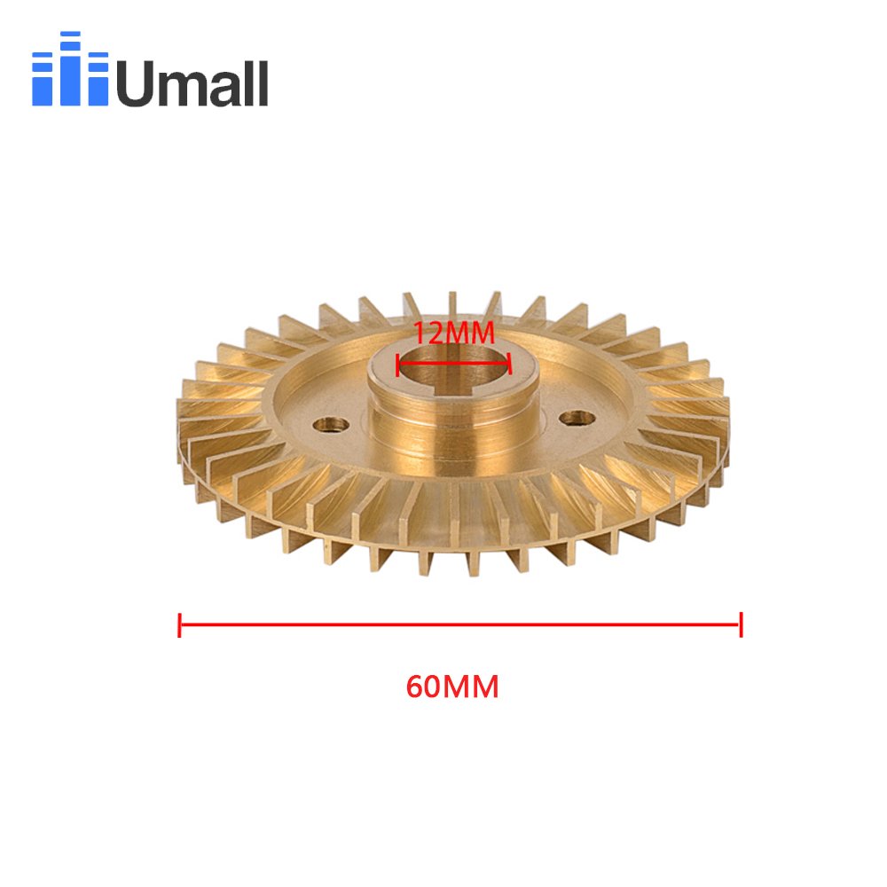 QB60 IDB35 Brass Cooper Self Priming Booster Clean Water Pump Impeller Electric Jet Centrifuge Assembly Motor Engine Impeller