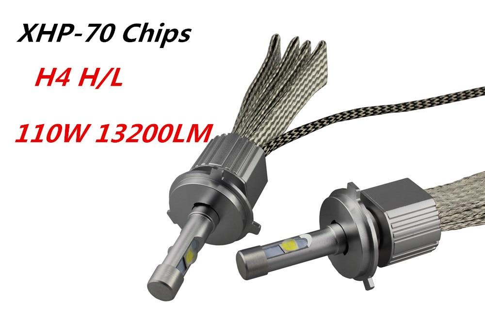 13200LM супер яркий автомобиль светодиодный фар комплект H4 H/L Привет/Lo пучка с CR XHP ...