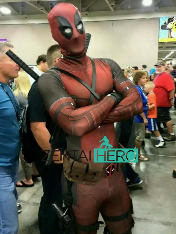 Envío gratis DHL Barato Impresión 3D Sombra Spandex Deadpool Traje 2017 Halloween Superhero Movie Deadpool Traje 16082401