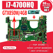 Send board+I7-4700HQ GTX850M 4GB N550JK Laptop motherboard for ASUS N550J N550JK N550JV Q550JV mainboard N550JX Motherboard i7 7500 8gb gt940m rev 3 1 3 0 ddr4 x556uv x556uqk motherboard for asus x556u x556uj x556uf x556ur laptop motherboard mainboard