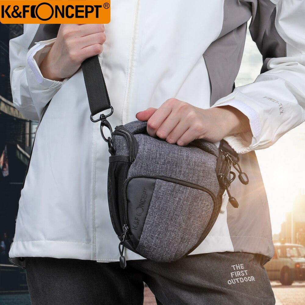 K & F CONCEPT sacoche étanche pour appareil photo Blackgrey petite taille Morden voyage avec couverture de pluie tenue adaptée pour 1 appareil photo + objectif