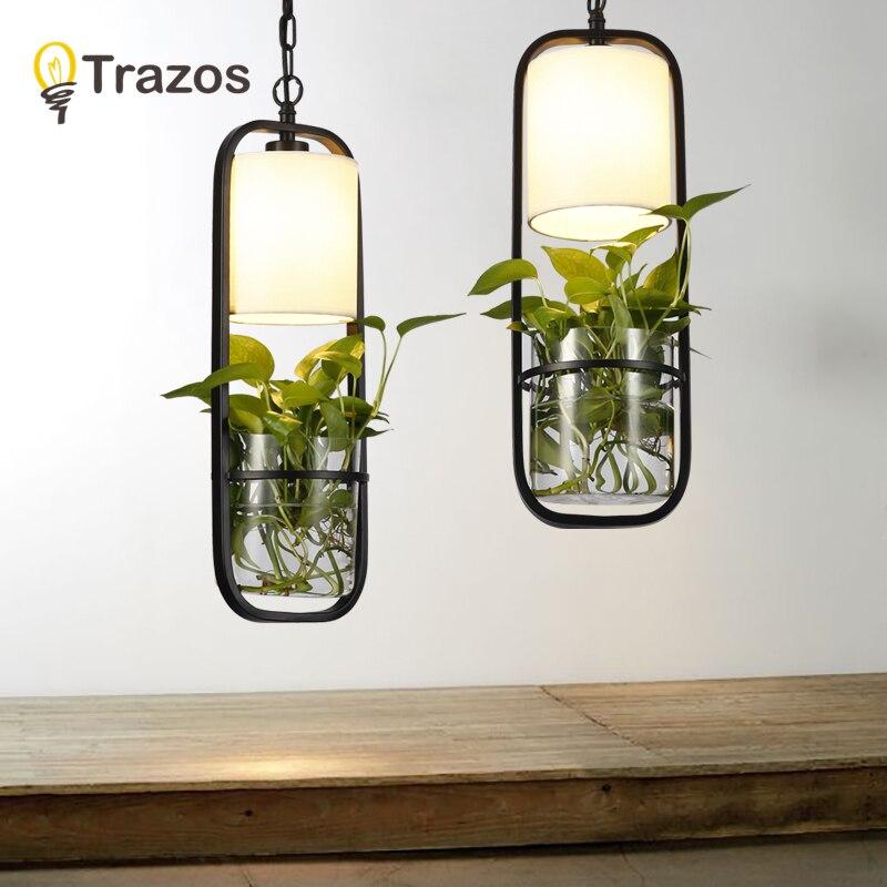Modern black cage pendant lights iron minimalist retro Scandinavian loft pyramid lamp metal Hanging Lamp E27 Indoor Plant