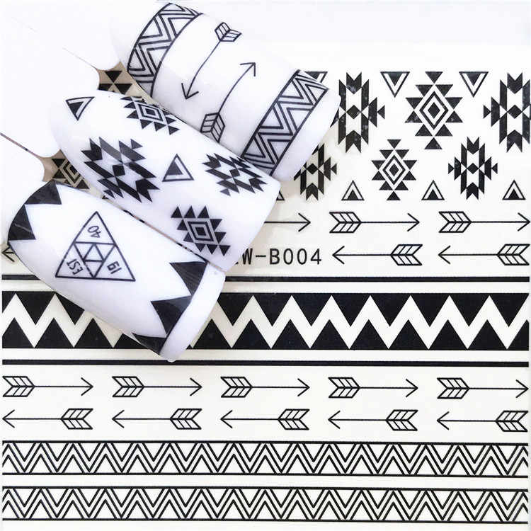 LOLEDE 1 feuille triangle polytrope autocollant pour ongles fleur décalcomanie curseurs pour décoration de l'ongle décoration tatouage manucure enveloppes outil 2222
