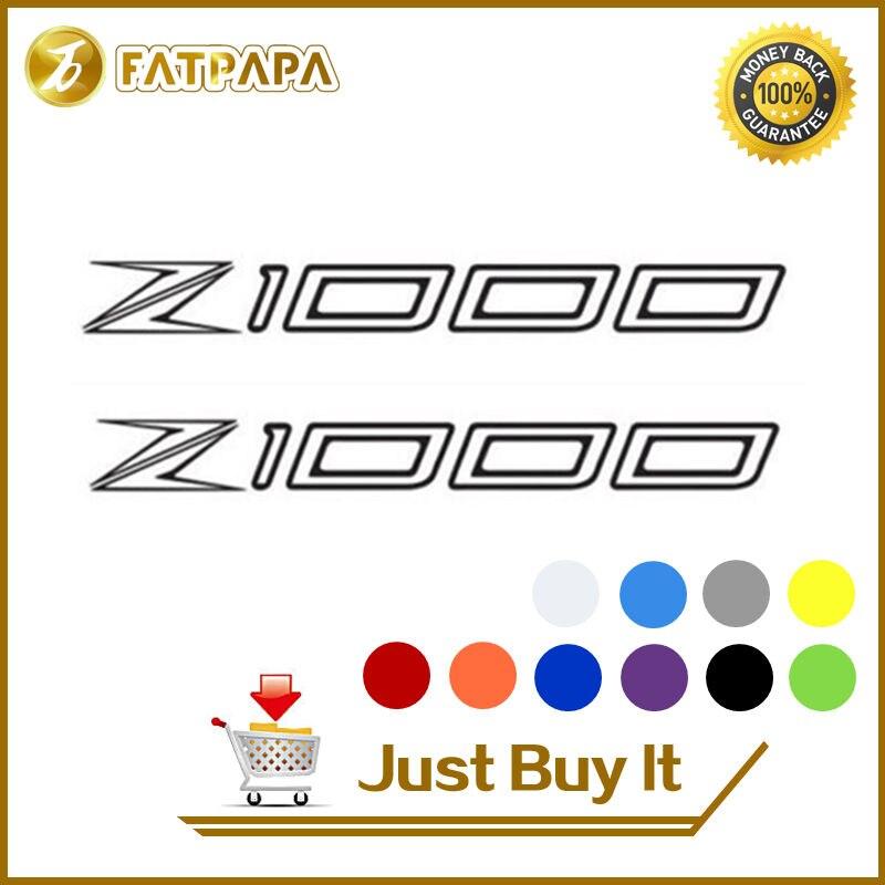 motorcycle bike Fuel tank Wheels Fairing notebook Luggage helmet  MOTO  Sticker decals For KAWASAKI Z1000
