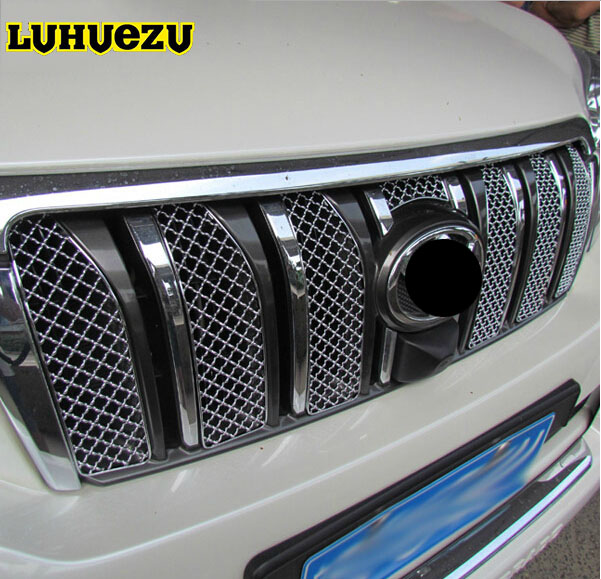 8PCS Aluminum Car Insect Screening Mesh Front Grille For Toyota Land Cruiser Prado FJ150 Accessories 2010-2013 Years