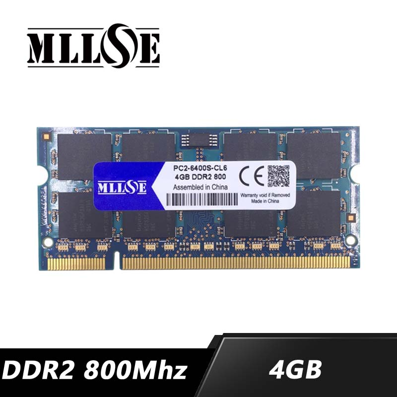 Mllse ddr2 laptop, 4gb 8gb 800 mhz PC2-6400 sdram memória ram ddr2, memória ram memoria ddr2 4gb 800 mhz pc2-6400s notebook, 4g 4gb ddr2