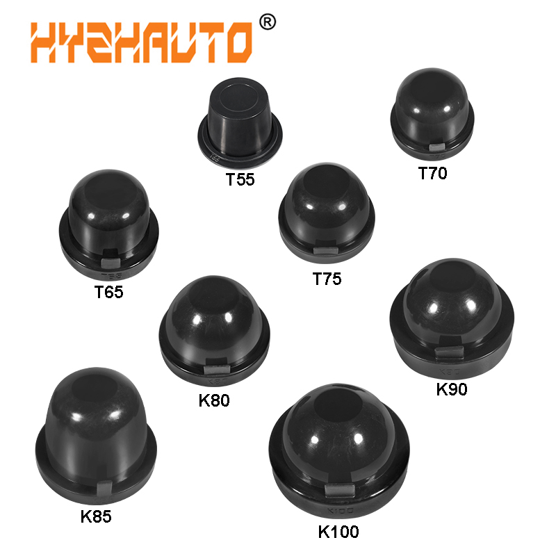 HYZHAUTO 2Pcs HID LED Car Headlight Dust Cover Rubber Head Fog Lamp Sealing Caps Waterproof Dustproof 55/65/70/75/80/85/90/100mm