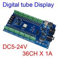 Fácil de 36 canais 12 grupos 36CH RGB dmx512 decoder DC5V 24V para LED dmx512 decoder 36 channelrgb decoder -