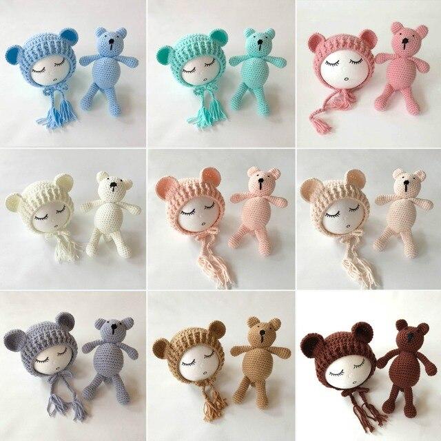 Häkeln teddybär puppe & hut, häkeln bär spielzeug, handmade ...