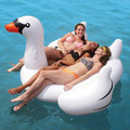 Inflatable Pool Toys 180 CM Inflated White Swan Ride-On Swimming Pool Floating Raft Summer Holiday Outdoor Fun Toy Party Supply