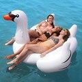 Piscina inflável Brinquedos 180 CM Inflado Cisne Branco Ride-On Piscina Balsa Flutuante Férias de Verão Diversão Ao Ar Livre Brinquedo Fonte do partido