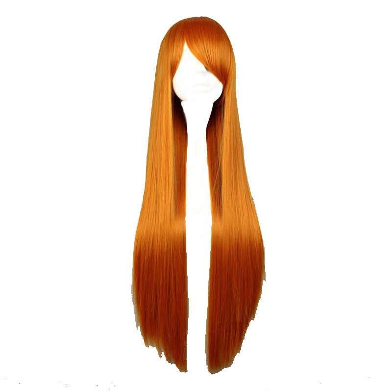 """MCOSER 35 цветов 80 см 31,49 """"длинный прямой женский парик термостойкий Розовый Серый Белый Косплей парики"""