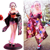 Super Sonico Flower Kimono Dress Uniform Maid Outfit Anime Cosplay Costumes