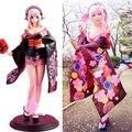 Súper Sonico vestido Kimono de flores traje de mucama uniforme disfraces Cosplay Anime