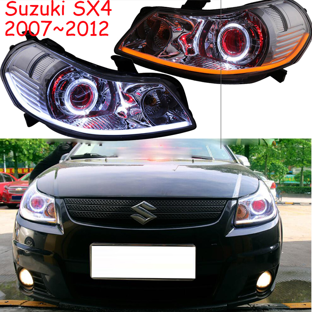 2007~2012y Car Bumer Head Light For Suzuki SX4 Headlight Car Accessories LED DRL HID Xenon Fog For Suzuki SX4 Headlamp